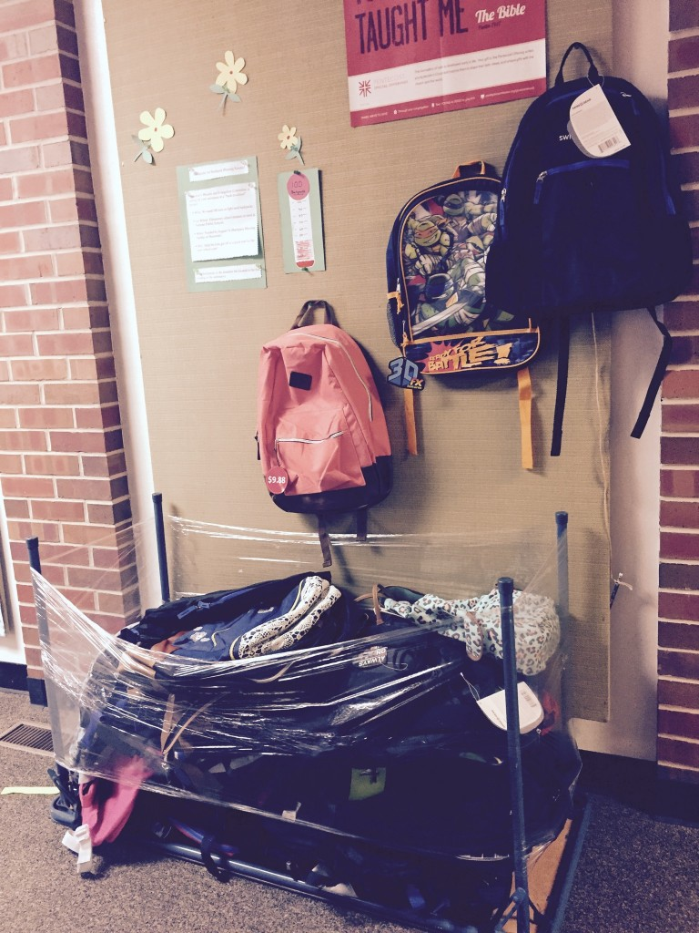 Backpacks for Norman elementary school students