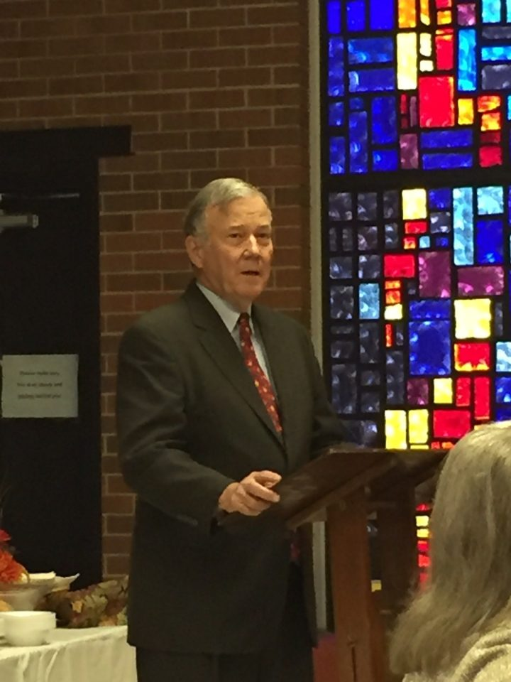Thanksgiving Pot Luck & Pastor Emeritus Honored